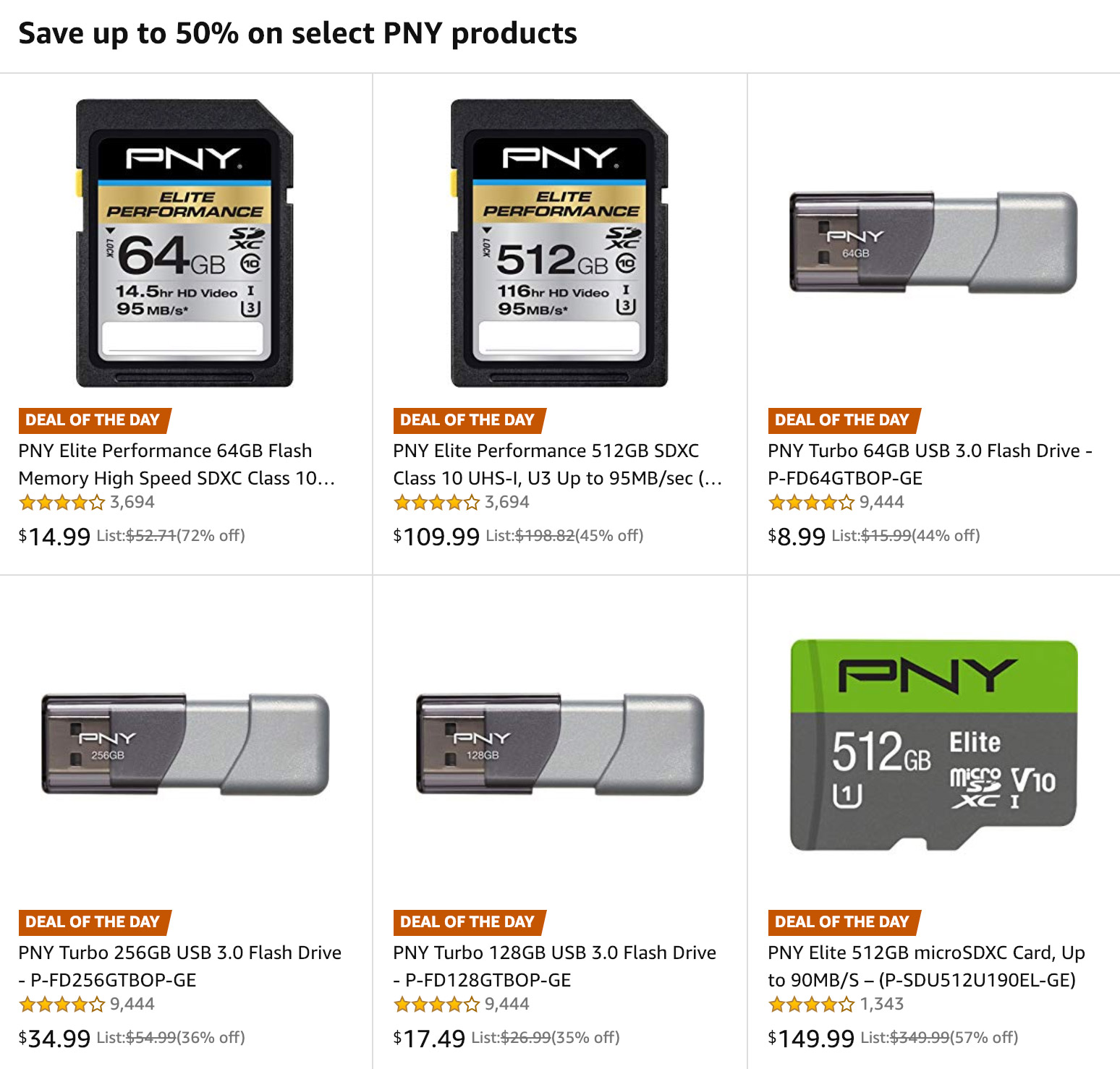 PNY Technologies Gold Box Deals