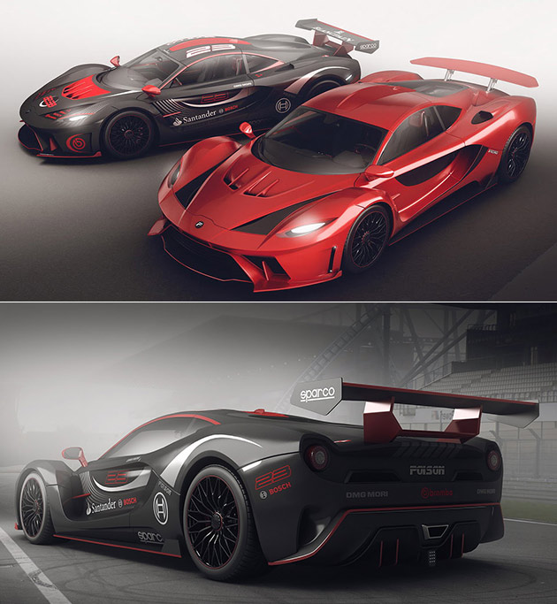 Automotive Designer Encho Enchev Wanted To Combine The New Ford Gt And Legendary Laferrari Into One So The Poison Concept Was Born