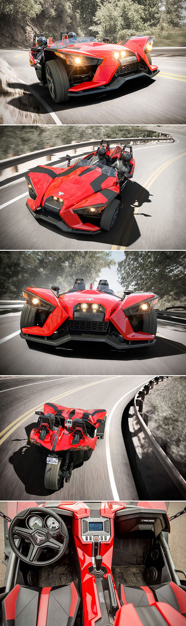 Polaris Slingshot: When Three-Wheeled Motorcycle Meets Go-Kart