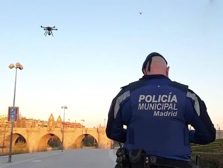 Police Spain Drones Coronavirus