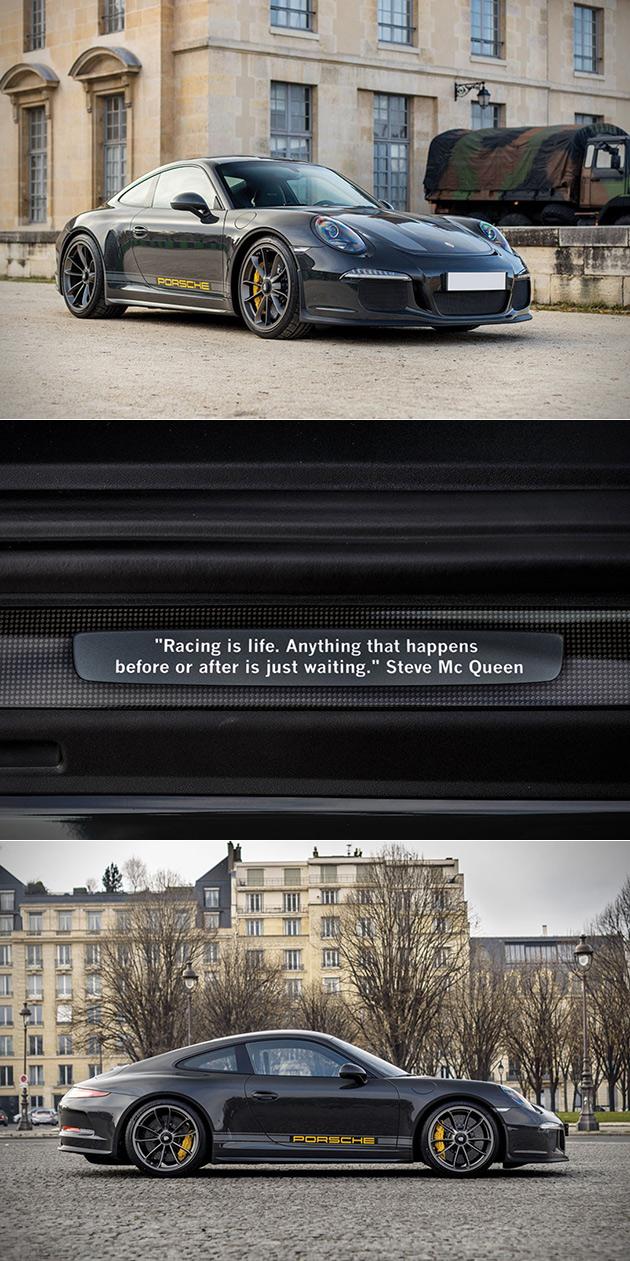 Seul au monde Porsche 911 R Steve McQueen Hommage Frappe le Bloc d'Enchères