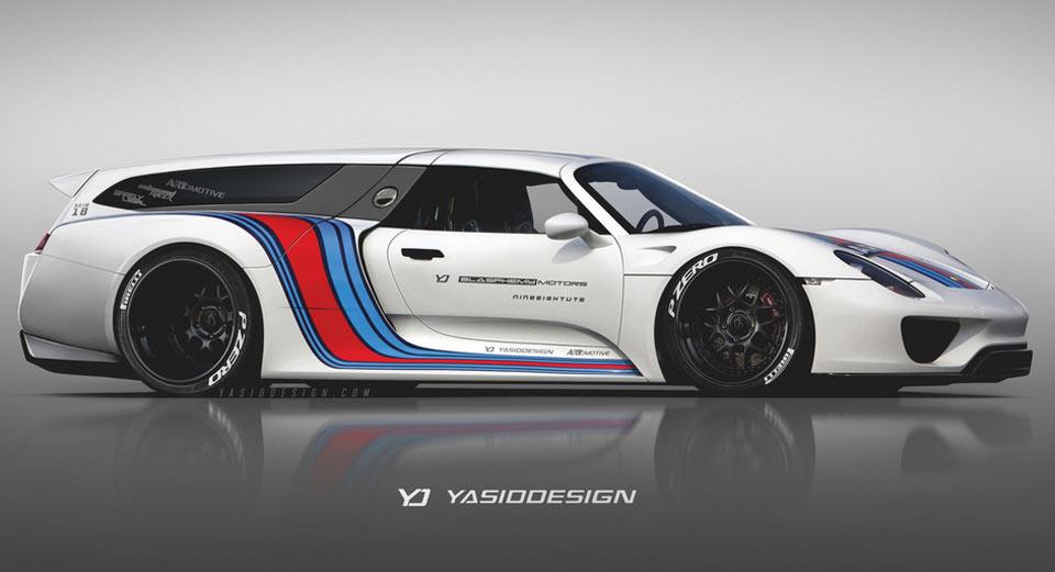 What The Porsche 918, Ferrari FXX K, McLaren P1 GTR And Bugatti Chiron  Would Look Like As Station Wagons
