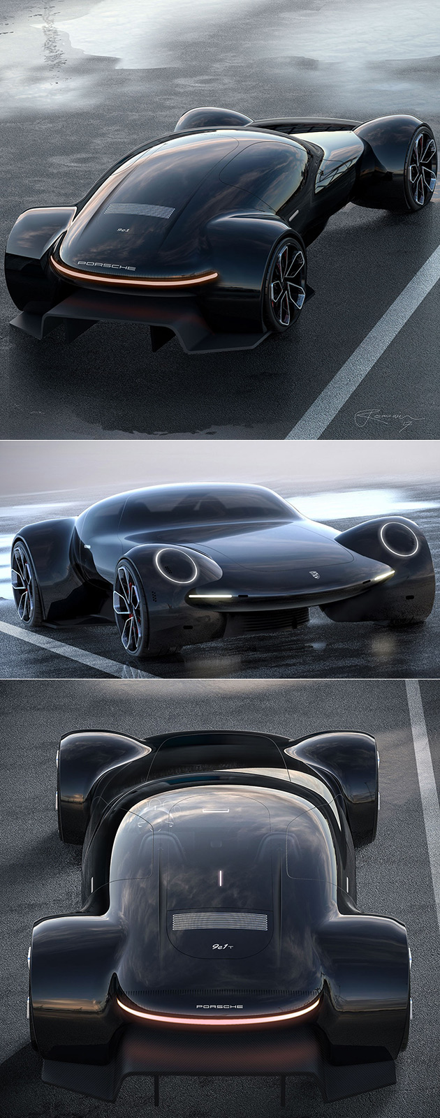 Porsche 9e1 Electric Hypercar