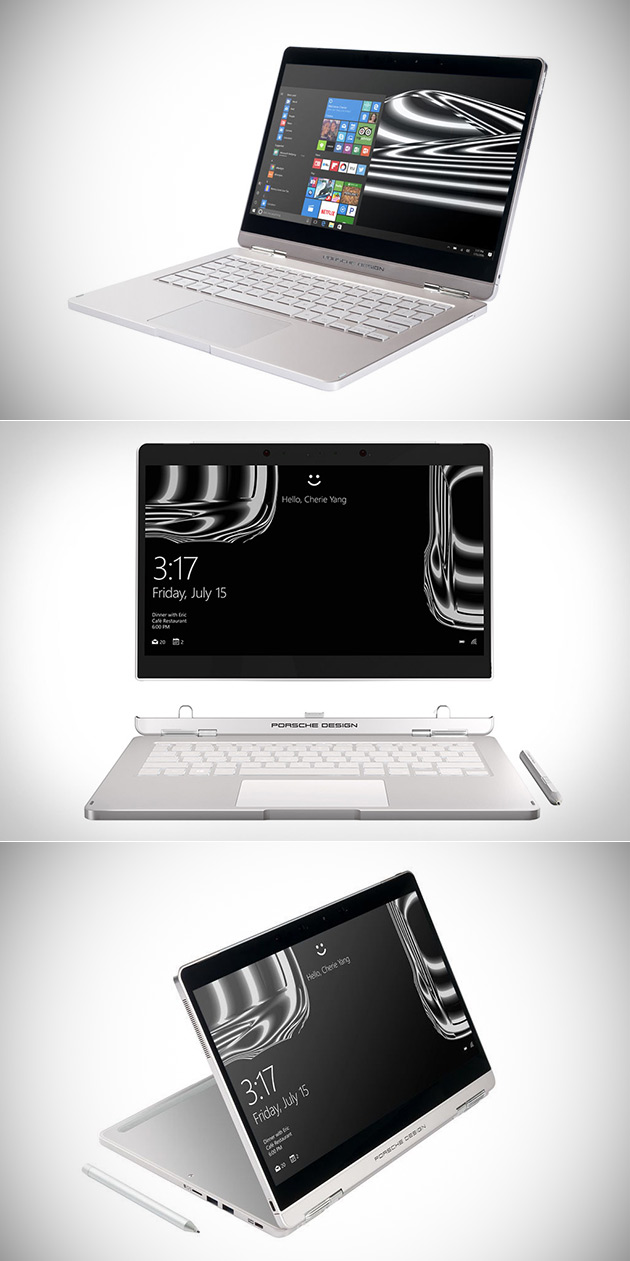porsche design book one laptop combines form and function. Black Bedroom Furniture Sets. Home Design Ideas