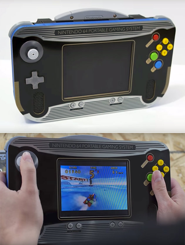 forget the nintendo switch this gamer built a portable n64 with 3d