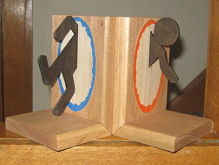 Geeky portal bookends techeblog - Portal bookend ...
