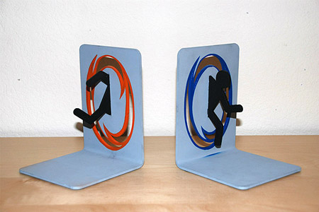 Portal bookends are geeky custom built techeblog - Portal book ends ...