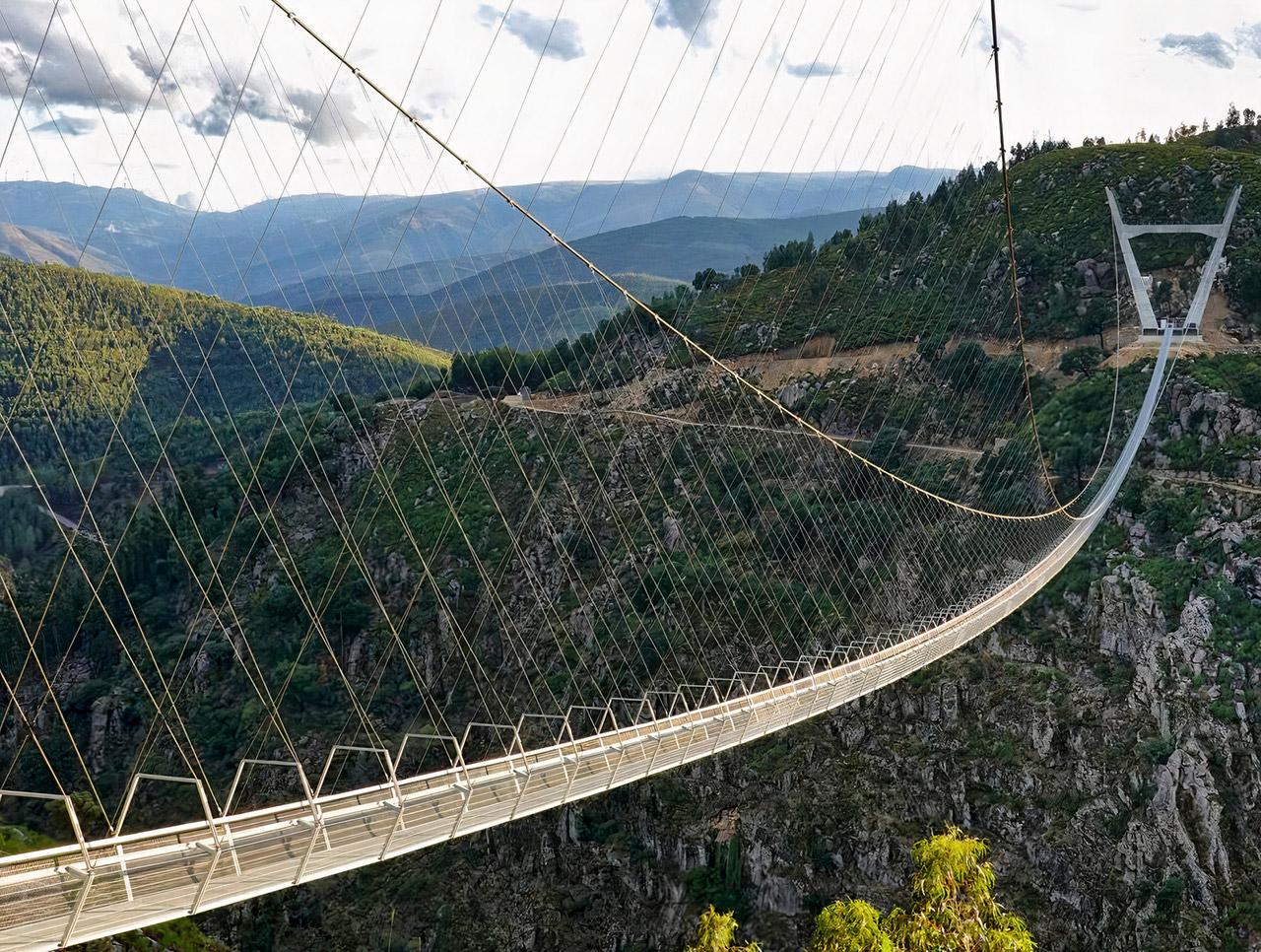 Portugal Arouca 516 World's Longest Pedestrian Suspension Bridge