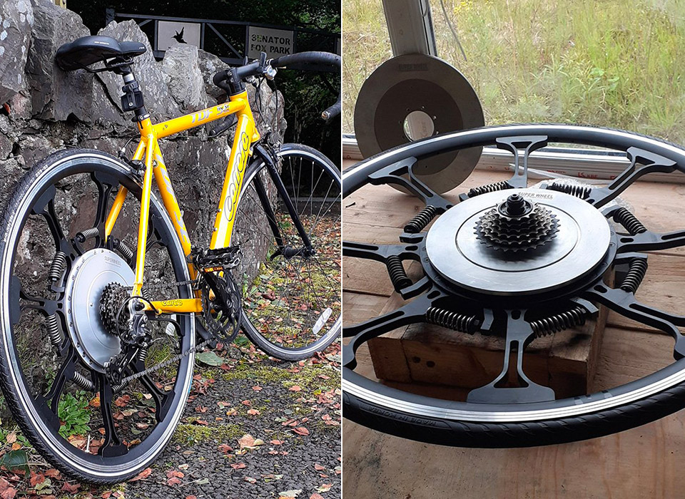 Power Assisted SuperWheel Bicycle