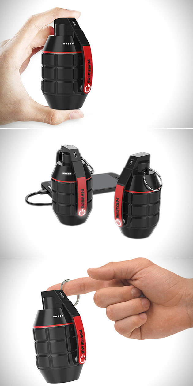 PowerBomb Gadget Charger Grenade