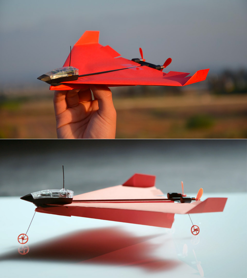 Powerup 4.0 Smartphone-Controlled Paper Airplane