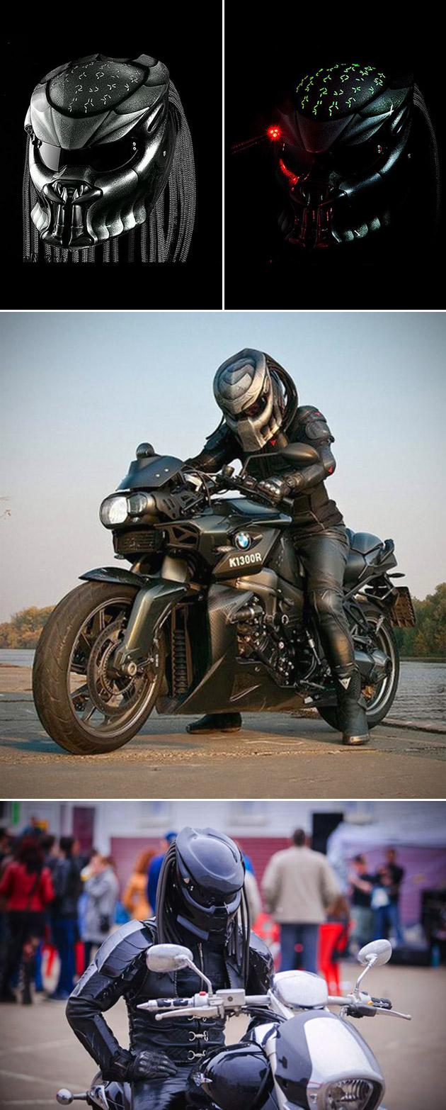 Predator Motorcycle Helmet Laser