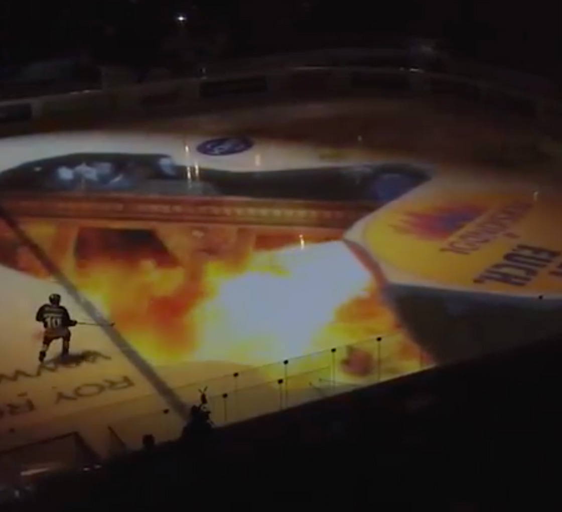 Projection Mapping Hockey Game of Thrones