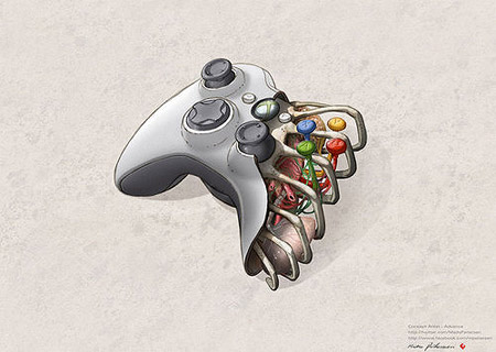 sure we all know that inside real playstation 3 xbox 360 controllers