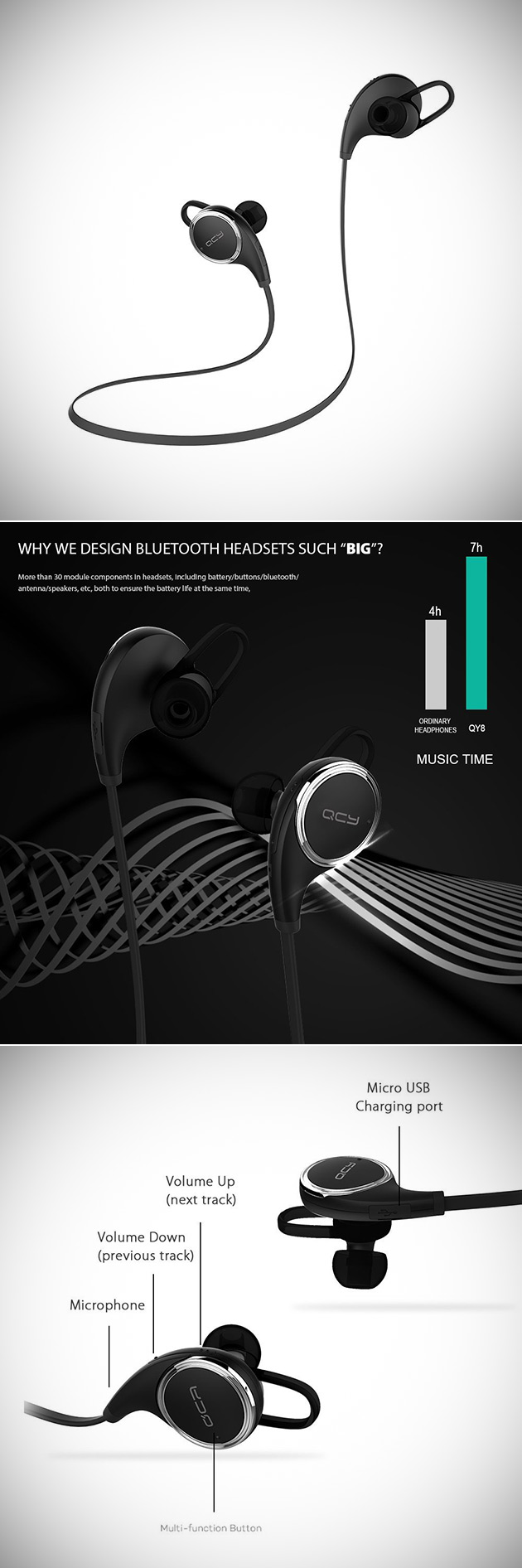 QCY Bluetooth Headphones