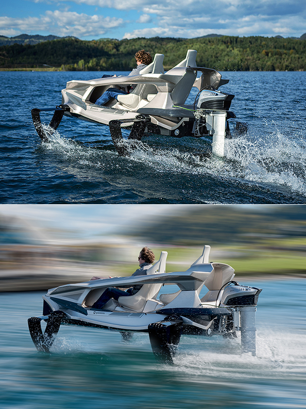 Forget Speedboats, the Electric Quadrofoil