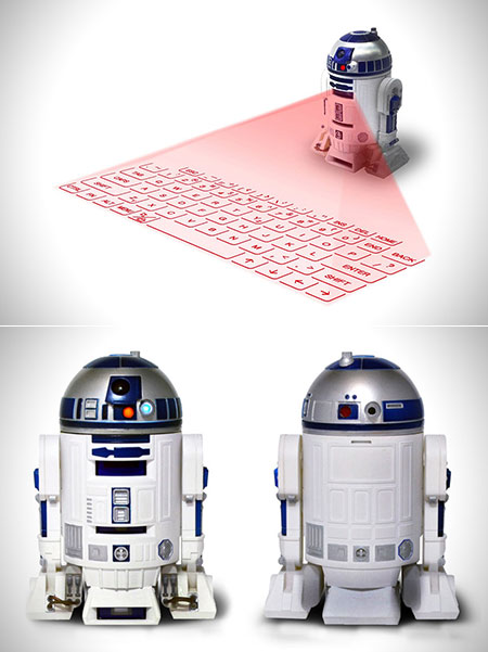 R2-D2 Virtual Laser Keyboard