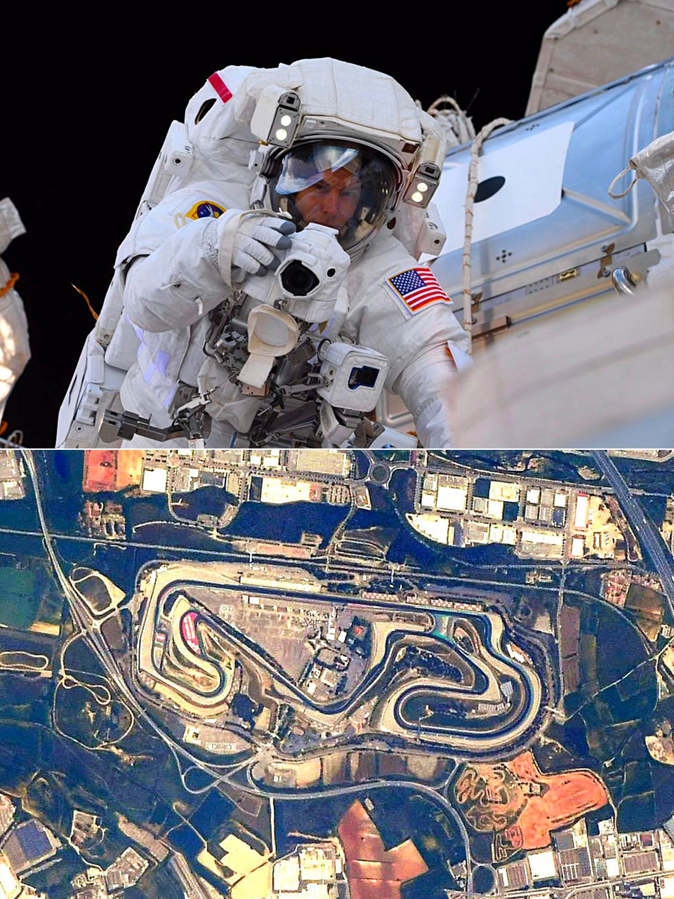 Racetracks from Space