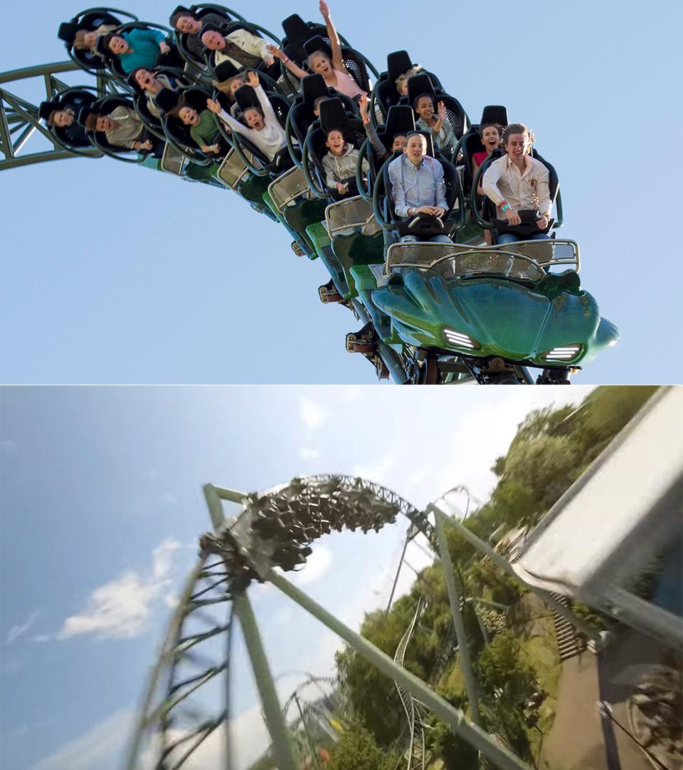 Racing Drone Helix Roller Coaster