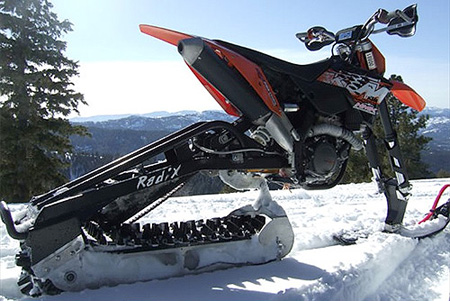 Dirt Bike Snowmobile >> Radix Turns Any Dirt Bike Into A Snowmobile Techeblog
