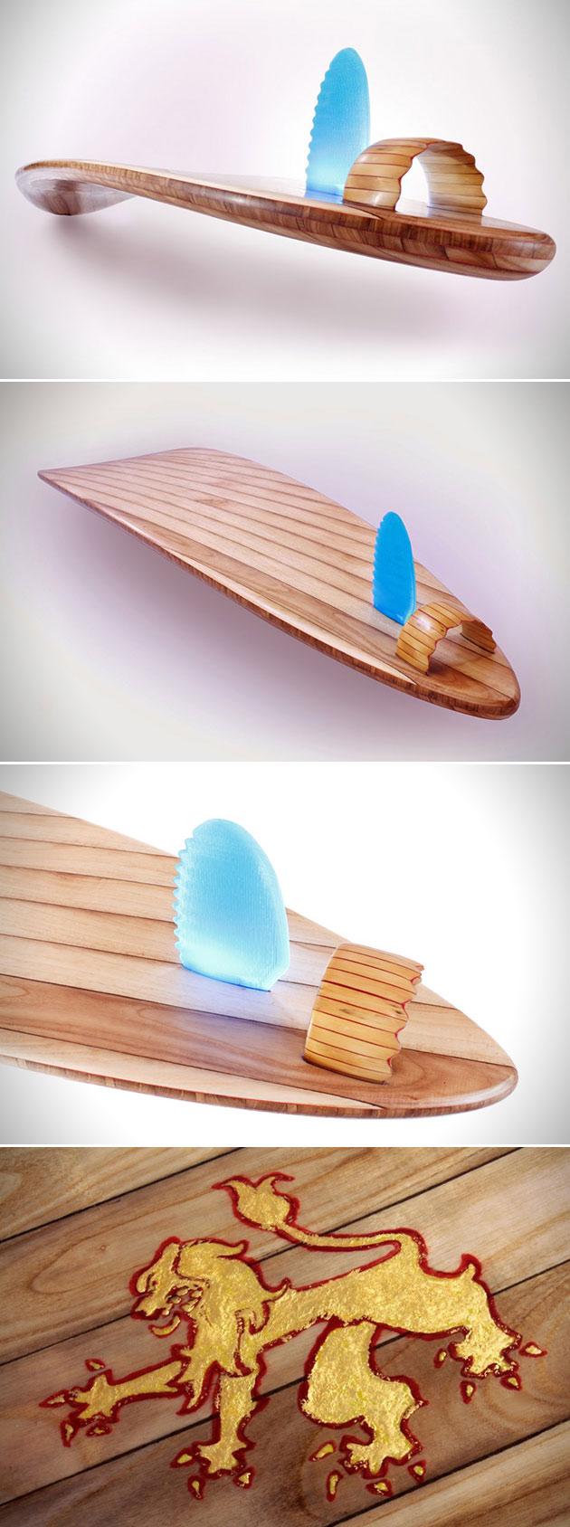 Rampant Surfboard 3D-Printed Fin