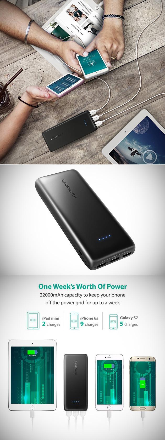 RAVPower 22000mAh Power Bank