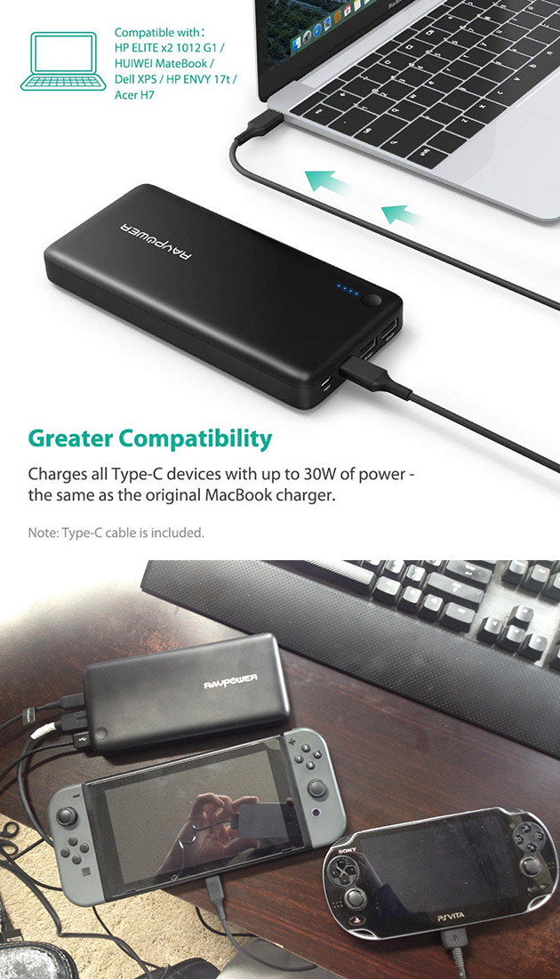 RAVPower 26800 PD Portable Charger