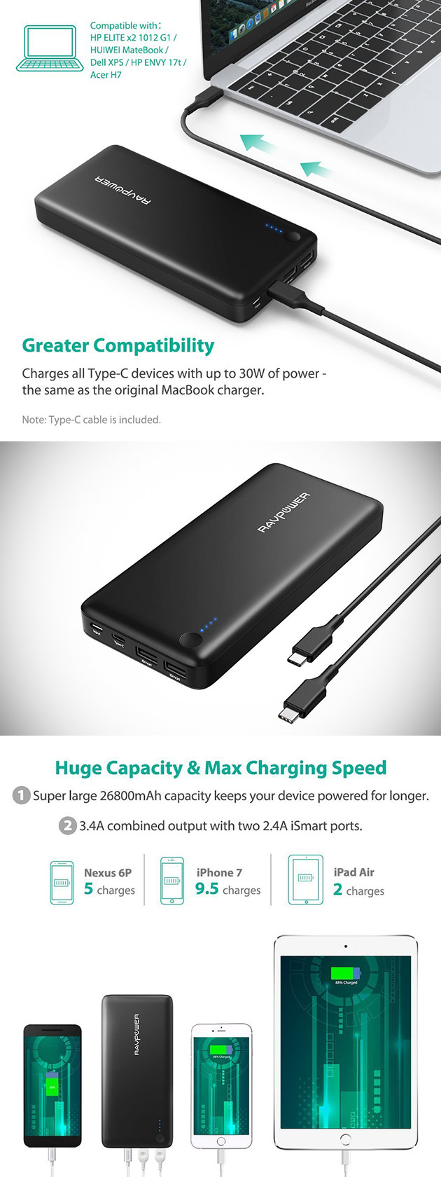 RAVPower USB-C PD Power Bank