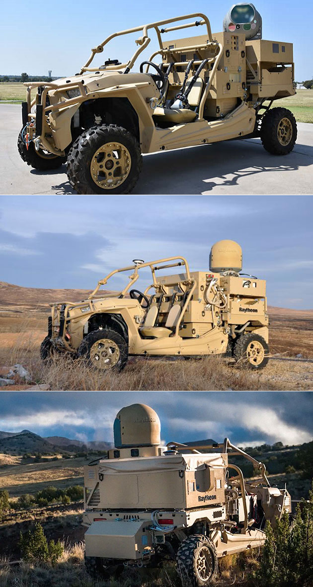 Raytheon Laser Weapon Dune Buggy