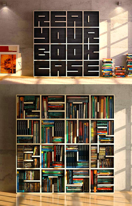 cool bookcase has a hidden message for you when it 39 s empty techeblog