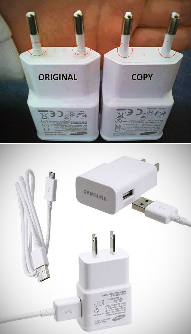Real Fake Samsung Accessories