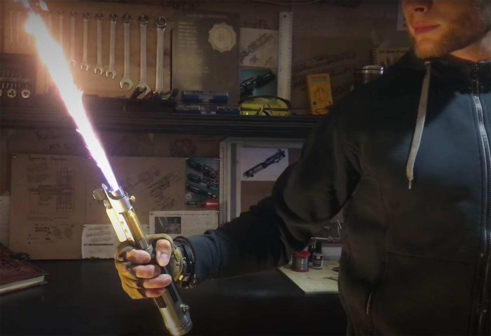 Real Hydrogen Lightsaber