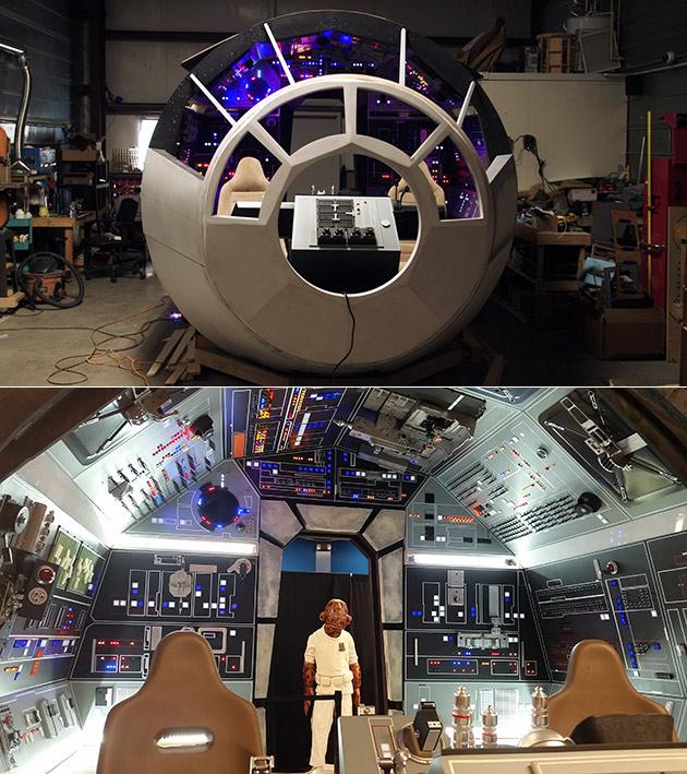Real Millennium Falcon Cockpit