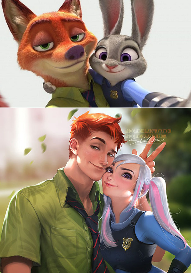 Real Nick and Judy