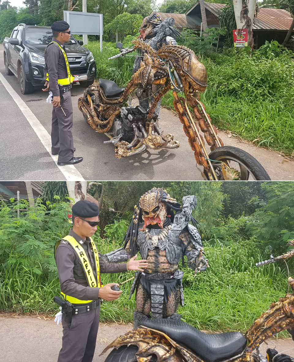 Predator Costume Motorcycle