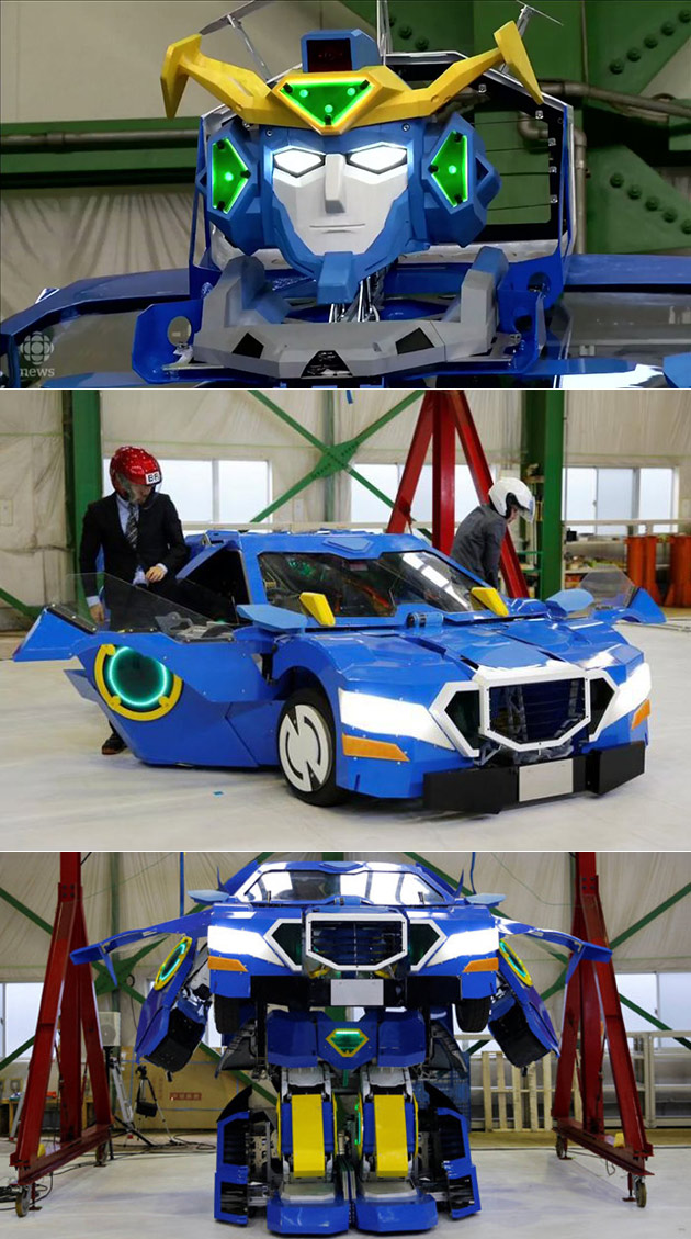 Real Transformers Robot Car