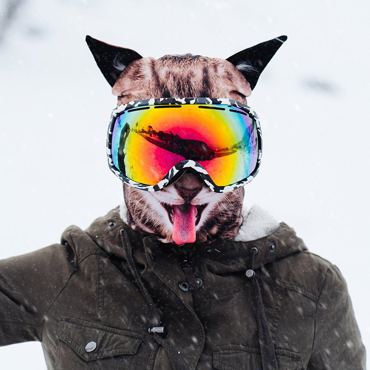 Realistic Animal Ski Masks