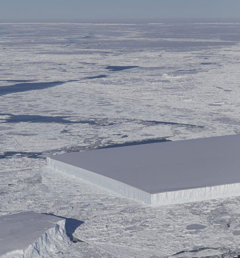Rectangular Iceberg NASA