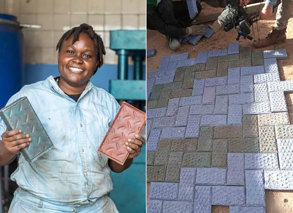 Gjenge Makers Recycled Plastic Bricks