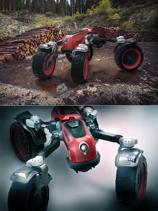 This is Not a Robot, Just Red Valtra, a Giant Semi-Autonomous Shapeshifting Tractor