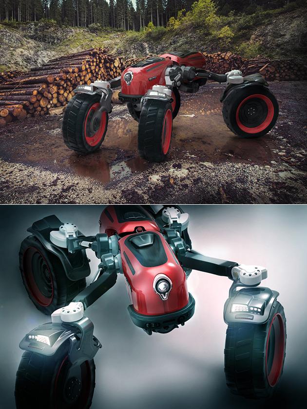 Este Não é um Robô, Apenas Vermelho Valtra, um Gigante Semi-Autónomas Shapeshifting Trator