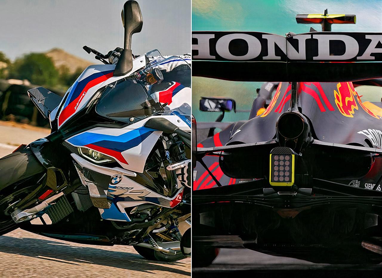 Red Bull Formula 1 Car BMW 1000 RR Superbike Drag Racing