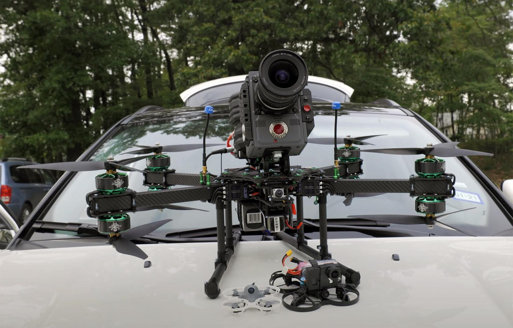 RED Cinema Camera FPV Racing Drone