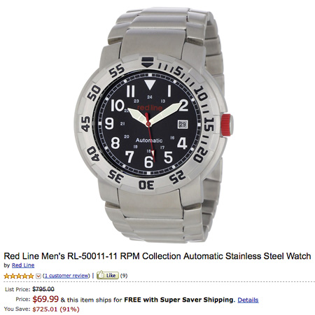 Deal of the Day: $795 Red Line Men's RL-50011-11 RPM Collection Watch ...