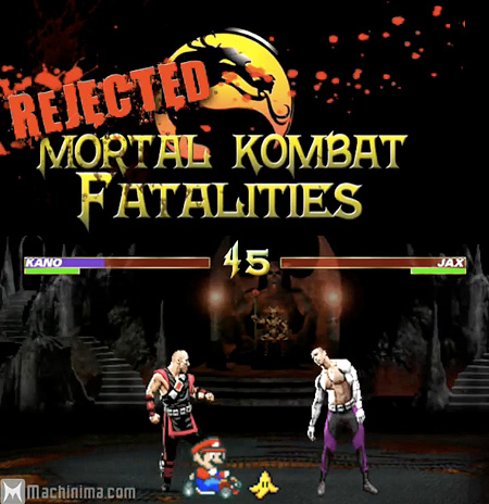 mortal kombat 2011 scorpion fatality. Funny Rejected Mortal Kombat