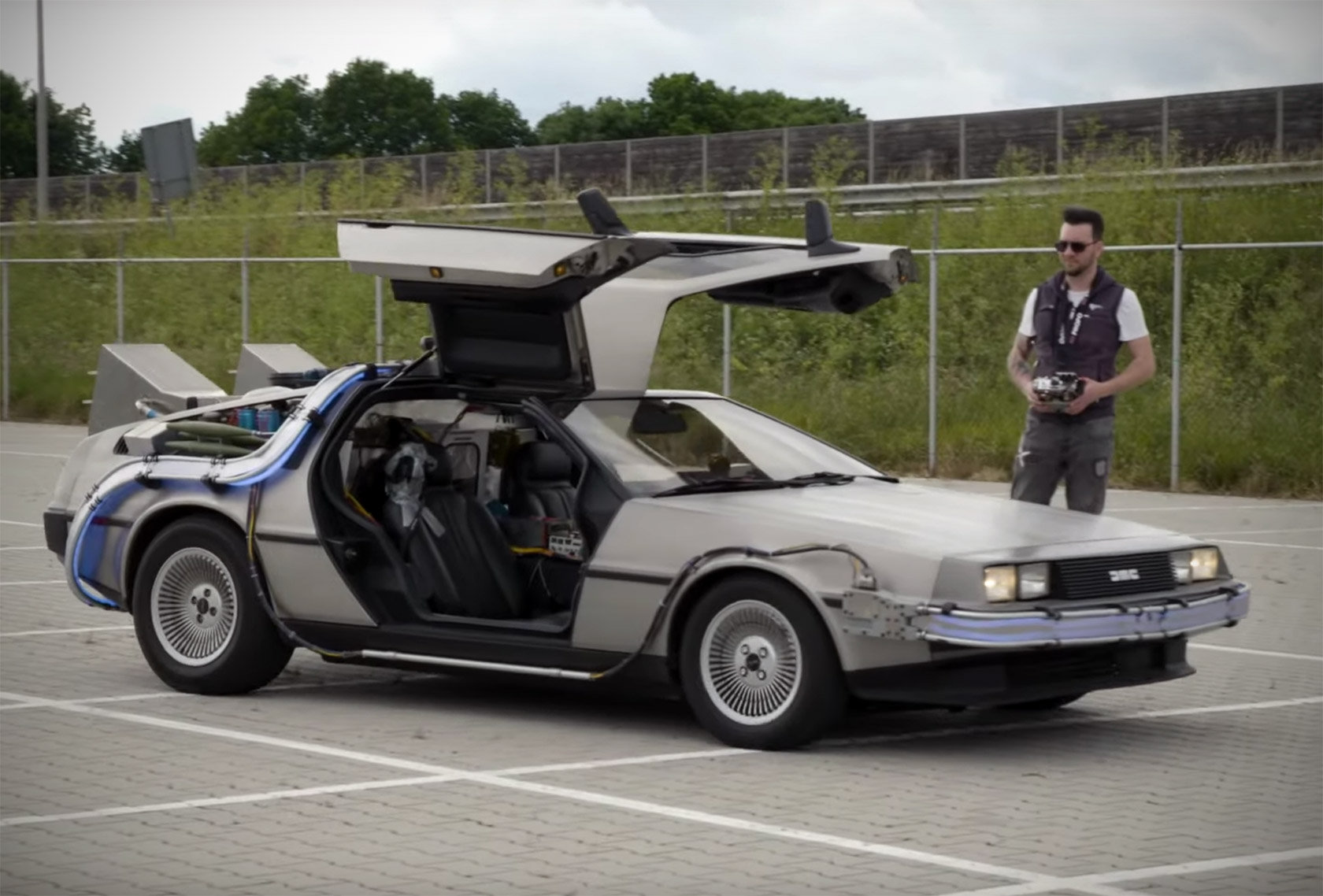 Remote-Controlled DeLorean