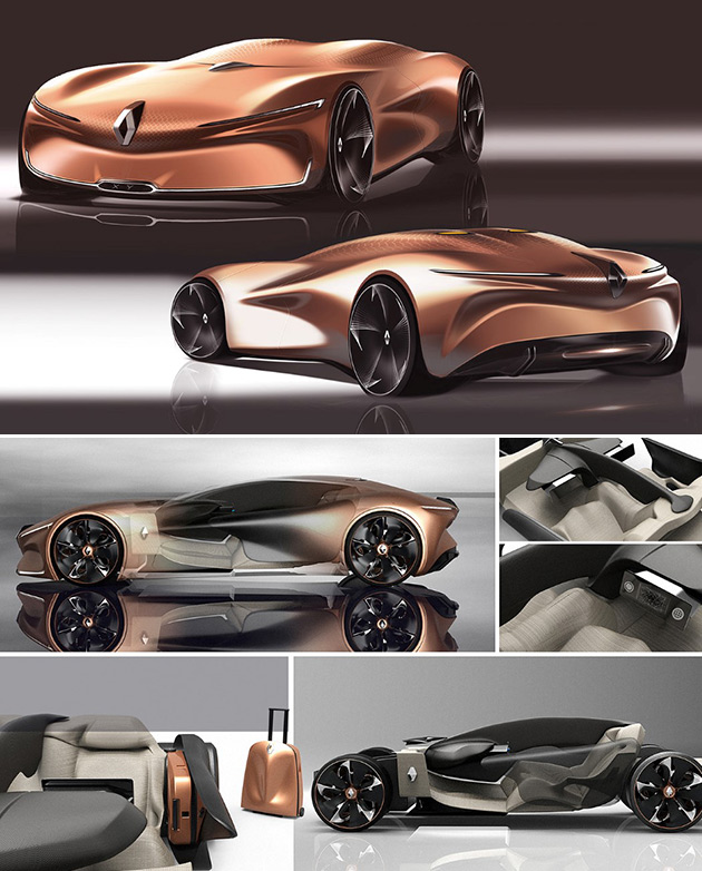 Renault Supercar: Futuristic Renault XY Supercar Has A Fabric-Like Metal