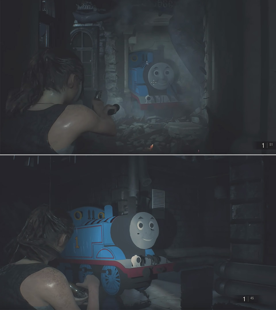 Resident Evil 2 Thomas Tank Locomotive