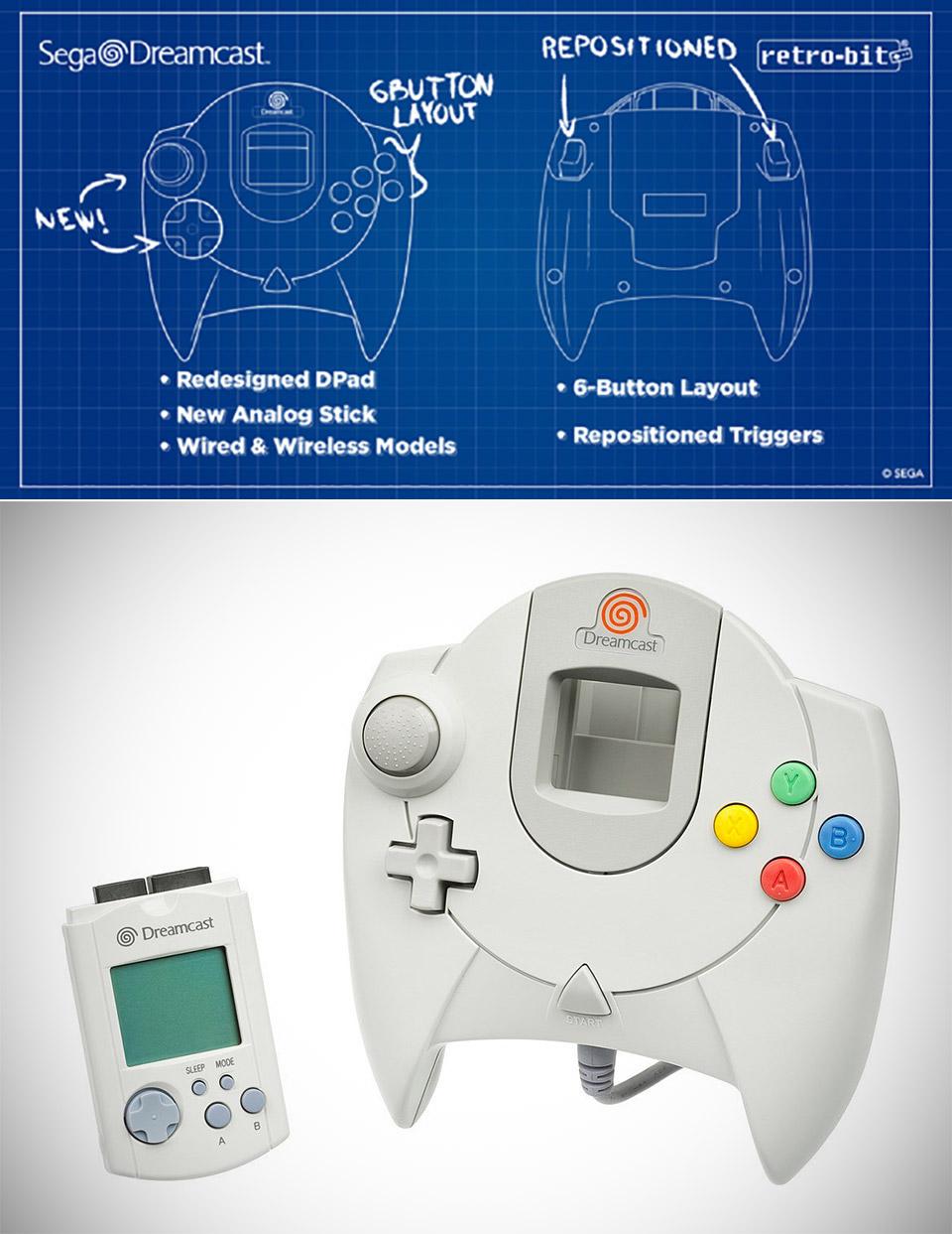 Retro-Bit SEGA Dreamcast Controller