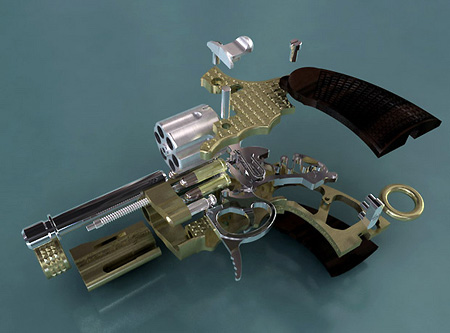 Priced at $60000, the SwissMiniGun revolver is diamond studded and boasts an